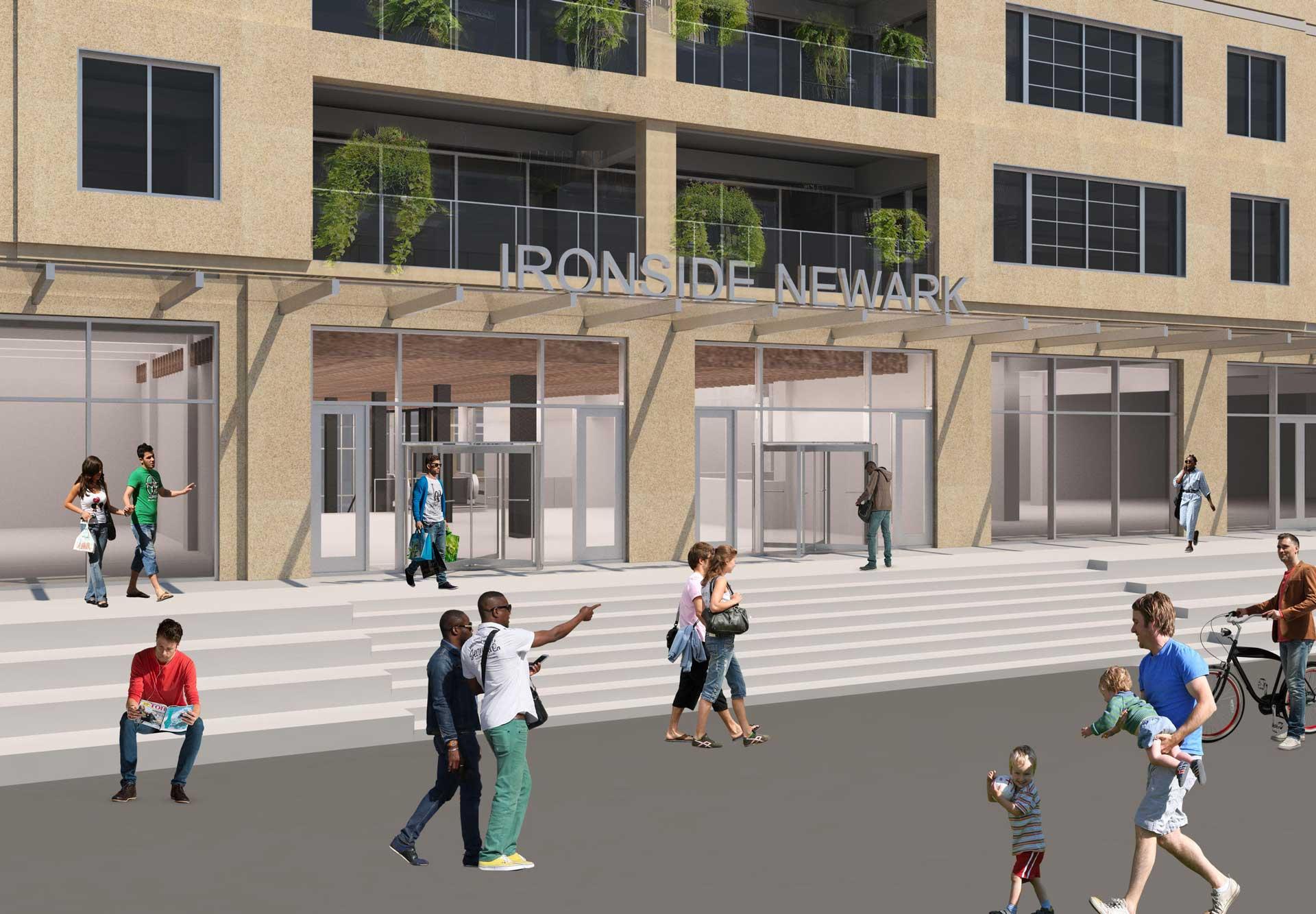 Ironside Warehouse Newark New Jersey Elevation 1 Providing Facade improvements