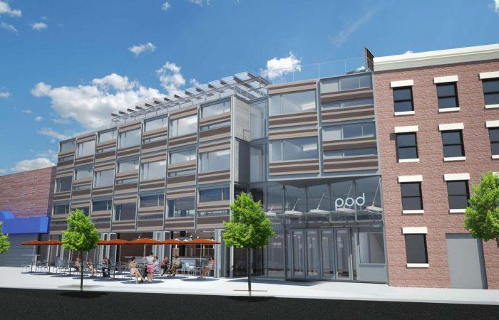 POD Hotel in Brooklyn New York Facade by Elevation 1
